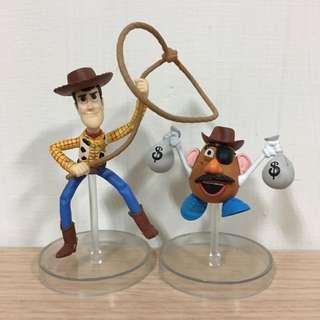 玩具總動員 胡迪 蛋頭先生 不拆賣 含運 場景 西部牛仔