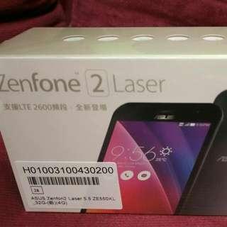 未拆封 華碩ZENFONE 2 Laser 5.5吋