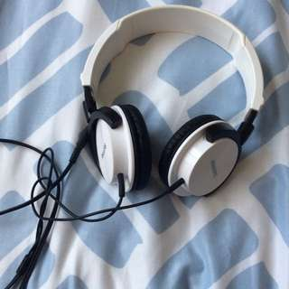 White Phillips Headphones