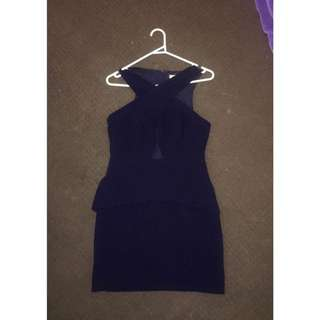 Navy Cross Over Dress Size 10