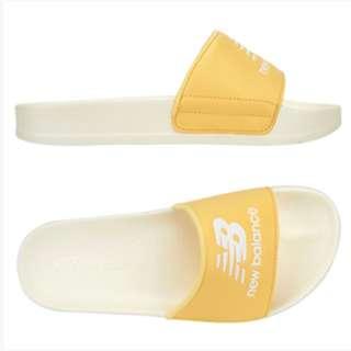 韓國代購 NEW BALANCE 粉黃 黃 奶油底 厚底拖鞋(SD1101DWY)1180含運 NBPJ7S506Y