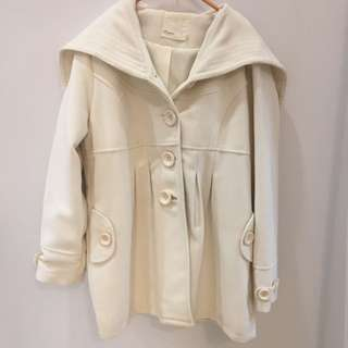 8happy白色大衣外套