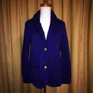 $300🈹mercibeaucoup, 寶藍色綿質西裝外套褸