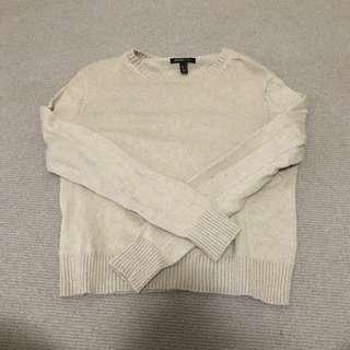 Mango Basic Sweater - NUDE