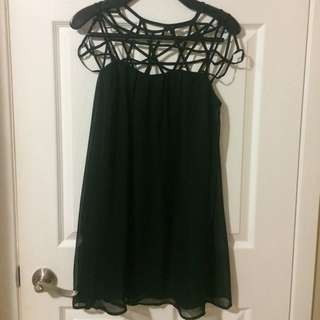 Lulus Caged Black Shift Dress (Size: S)