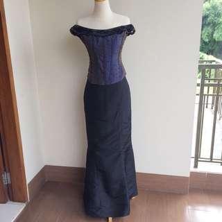 Formal Party Gown Baju Pesta Murah Berkualitas Korset Top Mermaid Skirt