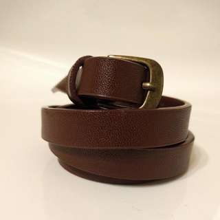 Brown Faux Leather Waist Belt