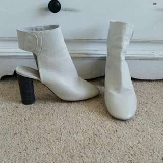 White Topshop Ankle Boots