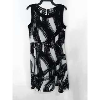 Monochrome Black White Dress