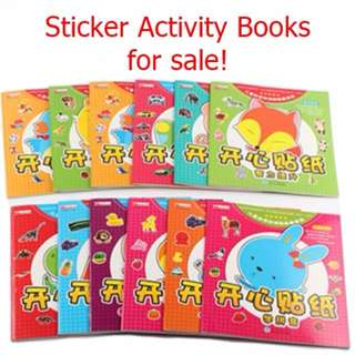 BN Mandarin/Chinese Stickers Activity Books for 2-6 year olds