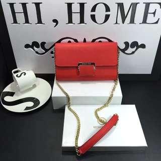 MK handbag in red and black