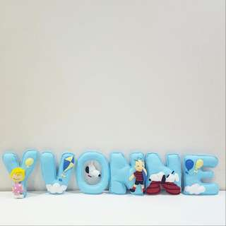 Snoopy Theme Customise Name Banner