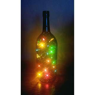 Christmas tree in a bottle
