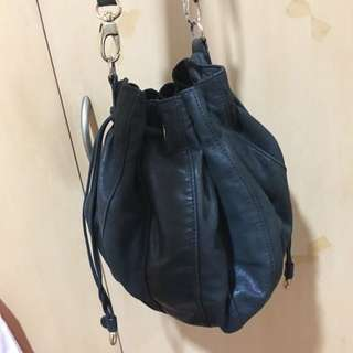 Tilkah black Leather Bucket Bag