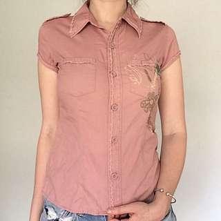 Just Jeans Light Pink Button Up Shirt