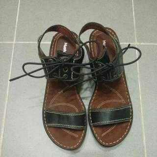 🎉Sale Hush Puppies Leather Platform Shoes 真皮高跟涼鞋