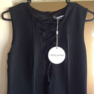 Finders Keepers Lace Up Midi Dress Size Small