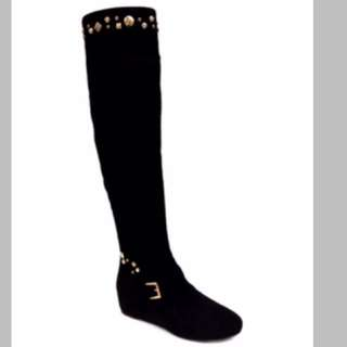 Black Star Over The Knee Boot
