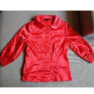Red Long Sleeve Top (worned)
