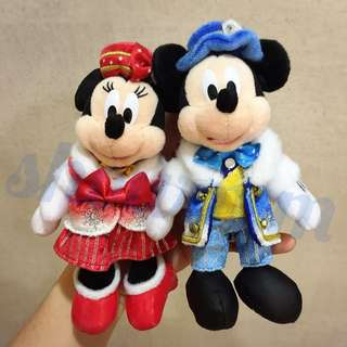 {Brand New} Tokyo DisneySea 2016 Christmas Keychain Minnie Mouse Plush