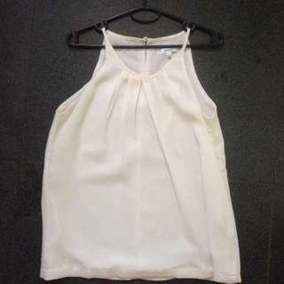 Valleygirl Pleated White Top