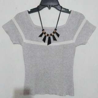 Knit Top Grey