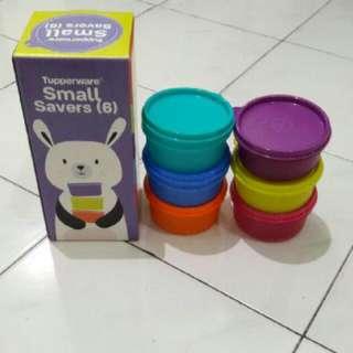 Tupperware Small Saver Isi 6 Pc