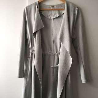 Coat Grey Suede