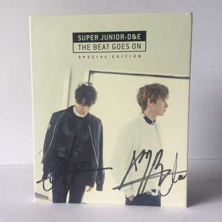 [SIGNED] SUPER JUNIOR D&E ' THE BEAT GOES ON' Special Edition Album