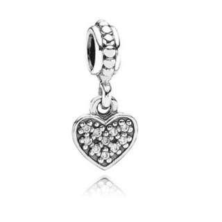 Pandora Pavé Heart Hanging Charm