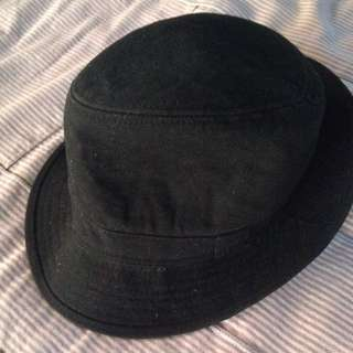 Cotton On Black Trilby Fedora Hat