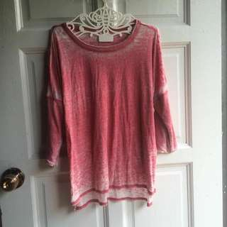 Forever 21 Pink Washed Loose Shirt