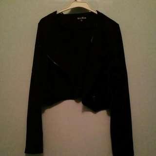 Black Short Long Sleeve Jacket