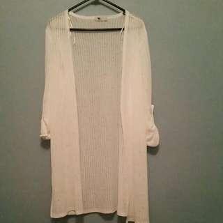 White Long Sheer Summer Jacket