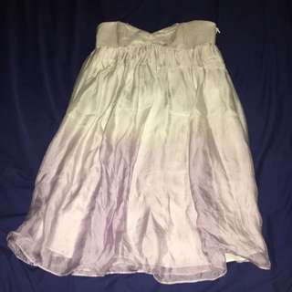 Forever New White And Purple Boob Tube Dress Size 8