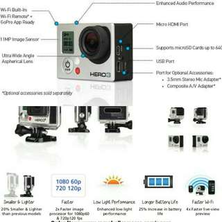 GoPro HERO3+ - Silver Edition With WiFi Remote and Accessories - High Definition Action Camera!!