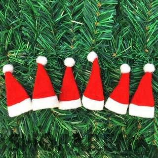 Mini Christmas Santa Hats Lollipop Candy Decoration Miniature
