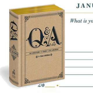[PO] Q And A A Day: A 5 Year Journal