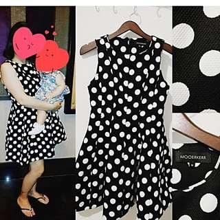 Premium Polka Dot Doll Dress Import Hong-Kong