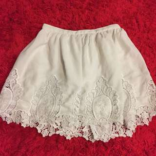 Angel Baby White High Waisted Skirt Size 8
