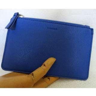 REPRICED! MANGO Cobalt Blue Zip Pouch
