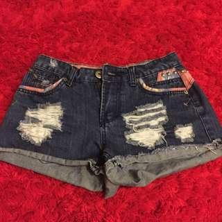 Refugee High Waisted Denim Shorts Brand New Size 10