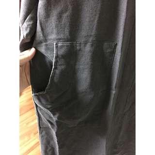 洗舊棉感長罩衫