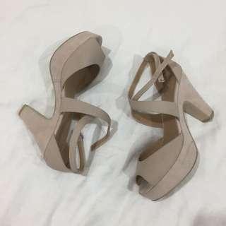 NOVO Block Heeled Shoes