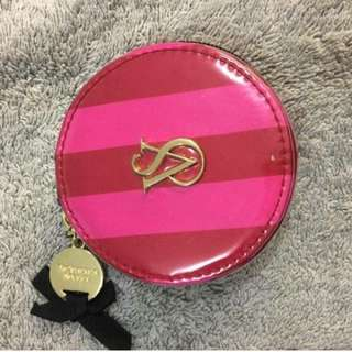 Victoria Secret Pink Stripes Double Sided Pocket Mirror
