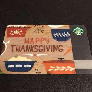 Starbucks Gift Card 2016 Thanksgiving Edition