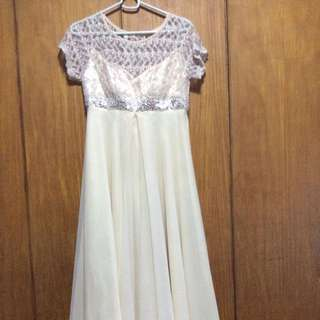 Beaded Top Long Gown