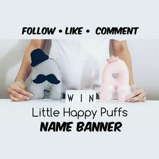 Name Banner Giveaway (For Baby Shower/ Birthday)