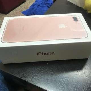 iphone 7plus 128g未拆封 玫瑰金現貨