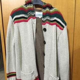 毛衣長版外套